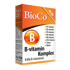 B-vitamin komplex tabletta 90 db Bioco